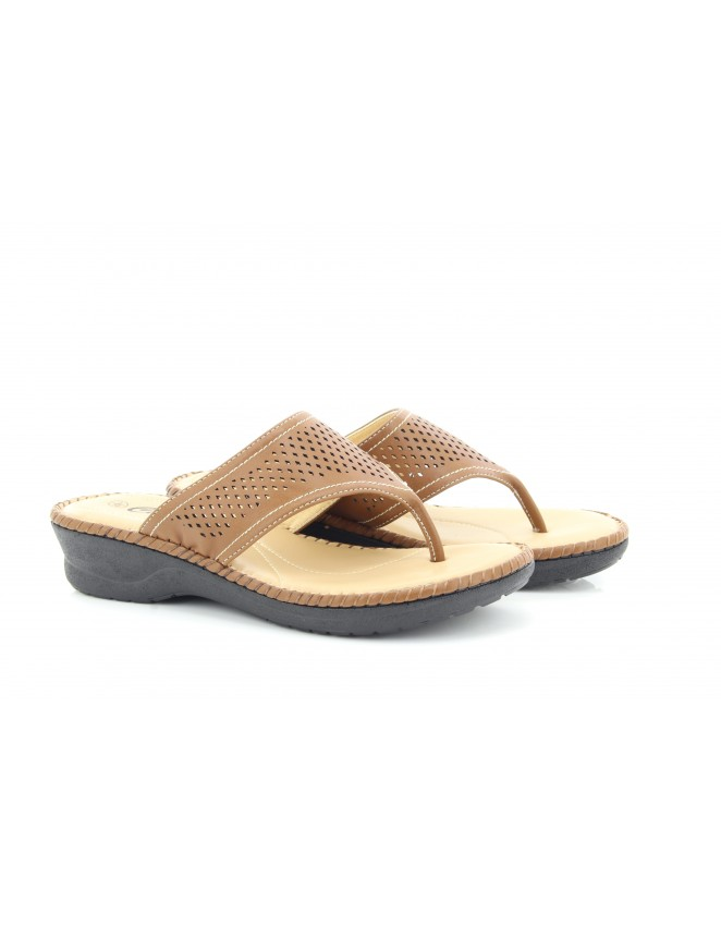Ladies Envy Toe Post Extra Padded Summer Mule Sandals
