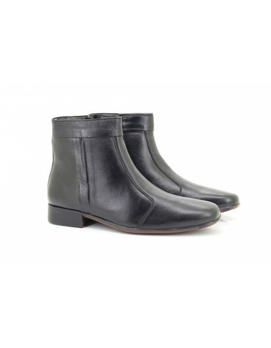 SCIMITAR M753 Soft Leather Pleated Side Zip Dealer Italian Ankle Boots