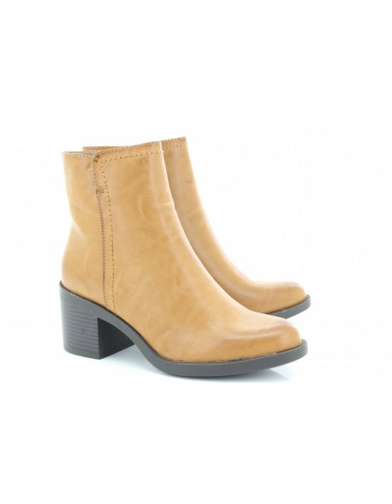 Emma Manhattan Tan Block Heel Chelsea Boots