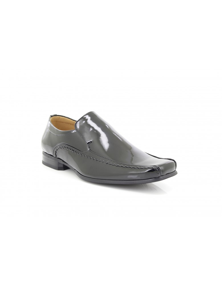 Goor M289 Square Toe Slip On Patent Party Dressy Formal Shoes