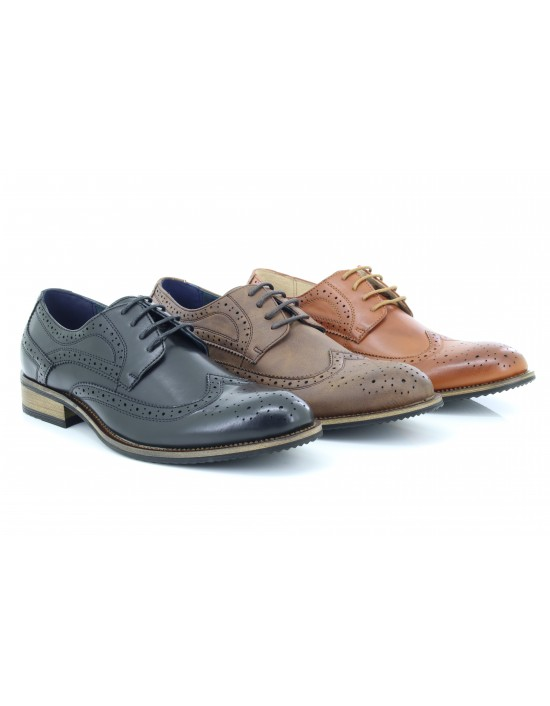 Route21 M803 Men's Classic Gibson Formal London Brogues Lace Up Shoes