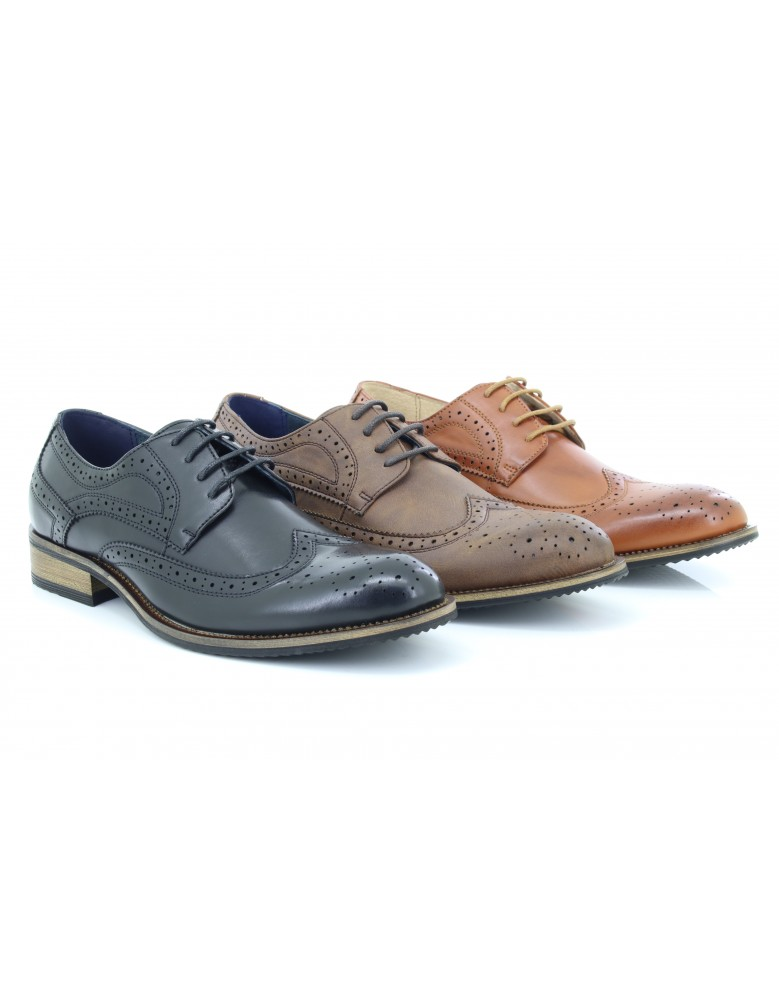 Kleidung & Accessoires Business-schuhe Mens Formal And Executive Imac Leather Brogue Gibson Brown