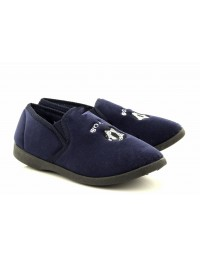 Zedzzz BS485 Boys Navy GOAL Football Indoor Slippers