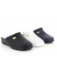San Malo Womens Ladies Leather Nursing Kitchen Mule Clogs Sandals Shoes