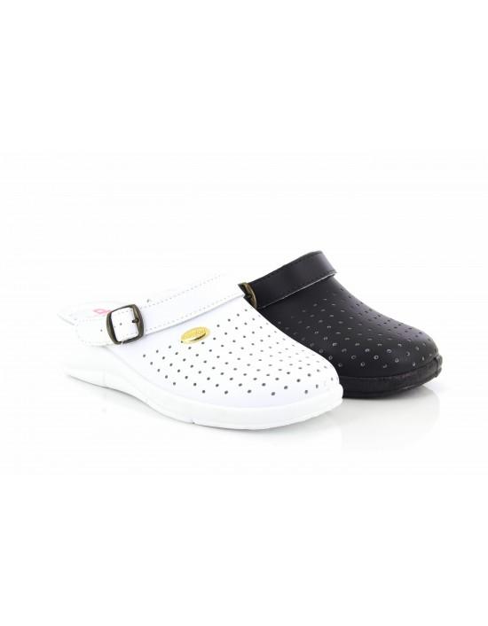 SanMalo L687 Swivel Bar Clog Mules Nursing Hospital Sandals