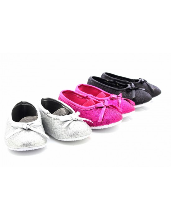 ShuCentre Elizabeth Diamante Elasticated Baby Toddler New Born Shoes