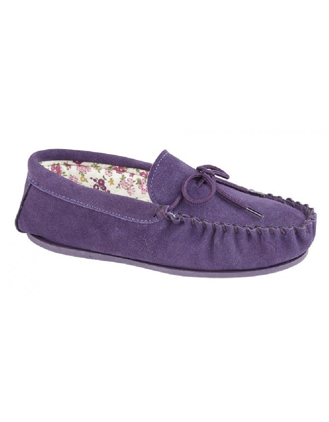 Ladies Mokkers Lily Real Suede Moccasin