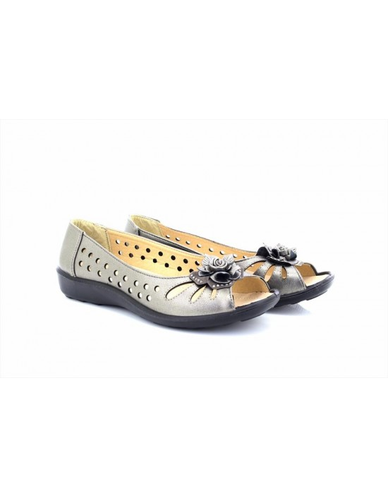 Boulevard L130 Side Gusset Summer Casual Pepper Hole Punched Padded Shoes Multi