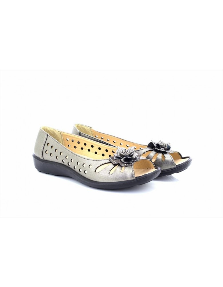 Boulevard Bow Open Toe Summer Shoes Black PU