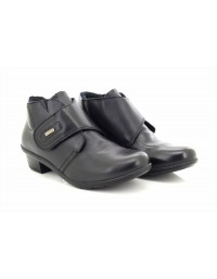 Ladies Mod Comfys L9500 Touch Fastening Dual Fitting Leather Ankle Boots