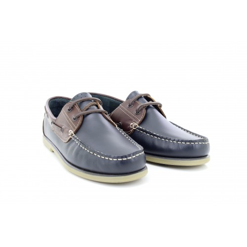 3312e6cd00a01 Details about Mens Dek M551 Smart Leather Moccasin Boat Shoes Navy  Blue/Brown Leather