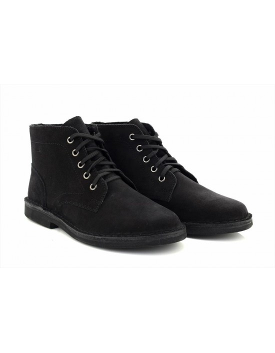 Mens Roamers Real Suede Classic Smart Casual Desert Boots