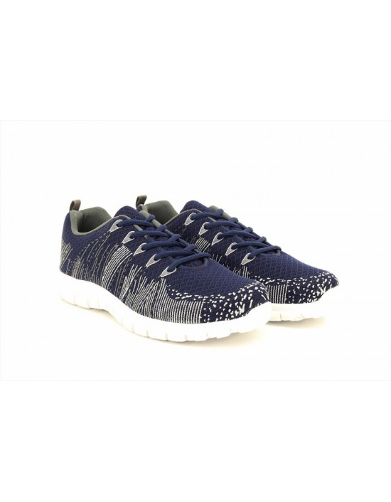 Unisex Dek Comet Superlight Navy Lace Up Flexi Memory Sock Trainers