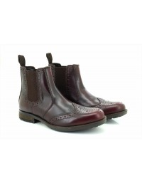 Roamers Harry M980 Softie Leather Twin Gusset Brogue Ankle Boots
