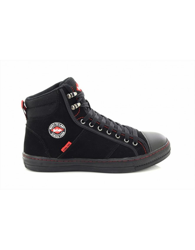 Lee Cooper LC022 Hi Top Hiker Leather Safety Toe Cap Ankle Boots