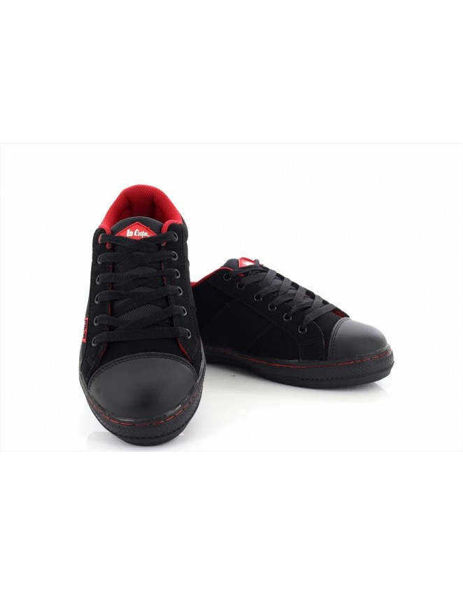 30b81c7ca971 Lee Cooper LC054 Canvas Trainer Leather Safety Toe Cap Shoes