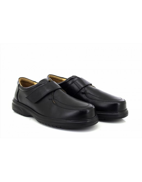 Roamers M460 Leather Apron Touch Fastening Leisure Lightweight Wide Fit Shoes