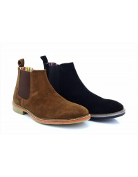 Roamers M611 Mens Suede Twin Gusset Ankle Chelsea Boots