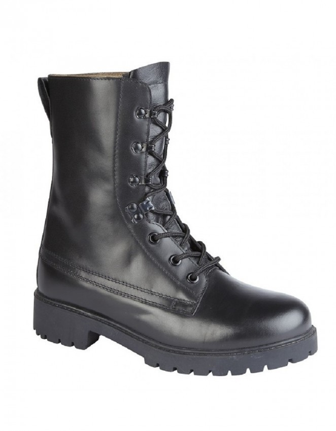 Grafters Mens Ladies Grain Leather NON-SAFETY Lace Up Comfort Work Boots Black