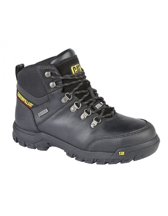 Mens CAT FRAMEWORK S3 Waterproof Membrane Leather Safety Boots