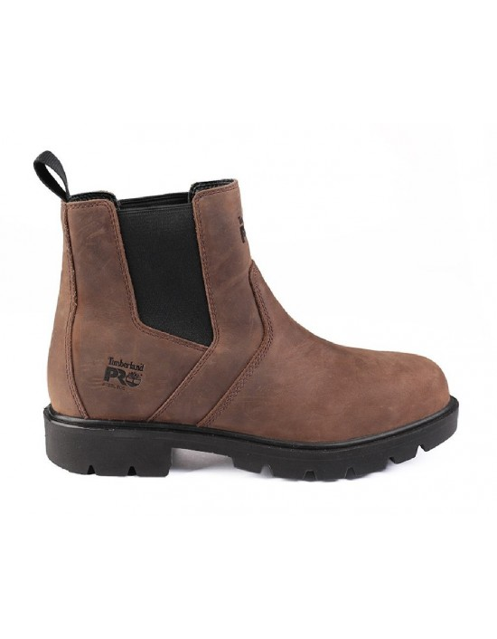 Mens Timberland Pro Sawhorse Dealer Brown Leather Safety Boots