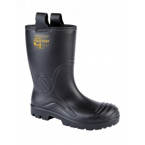 8f31bfacf3d Details about Grafters M928A Mens Full Safety Waterproof Rigger Wellington  Boots