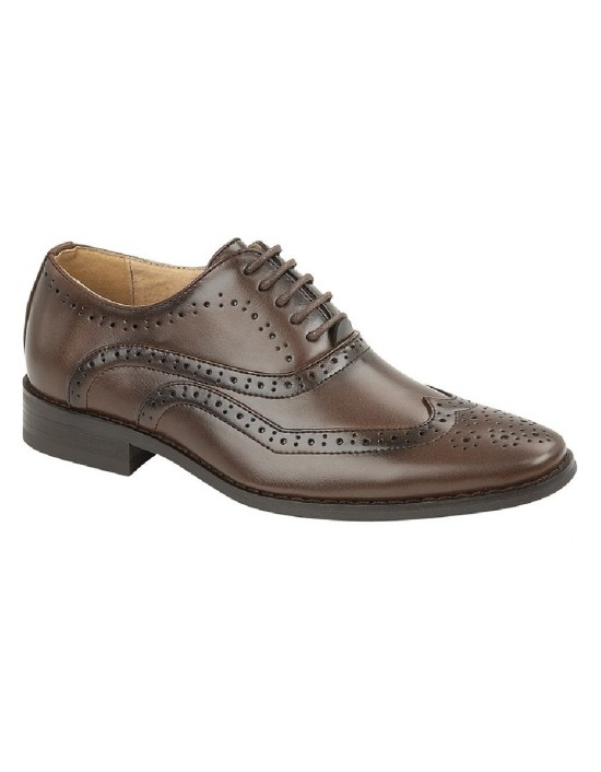 Boys Goor B370 Classic Smart Brogue Oxford Shoes